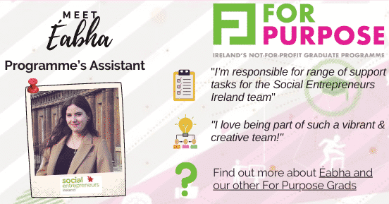 Meet our Grad Eabha from Social Entrepreneurs Ireland