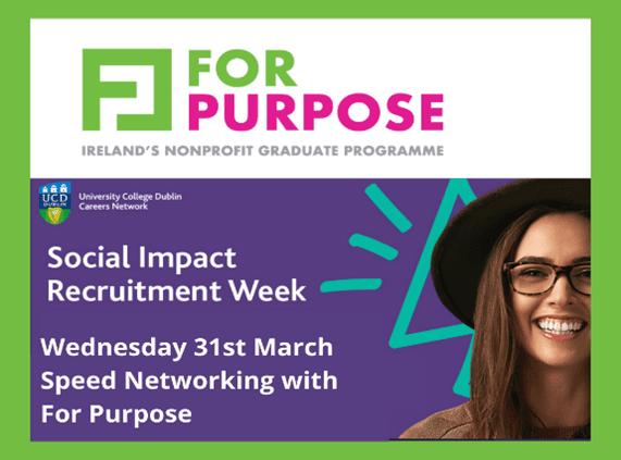 ucd social impact careers week for purpose graduate programme